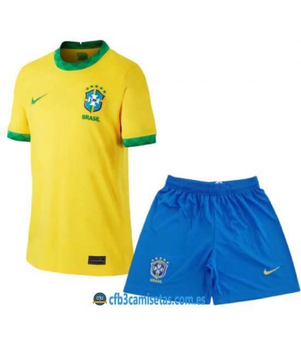 CFB3-Camisetas Brasil 1a equipación 2020/21 - niÑos