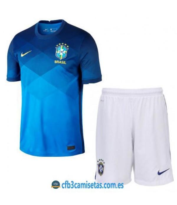 CFB3-Camisetas Brasil 2a equipación 2020/21 - niÑos