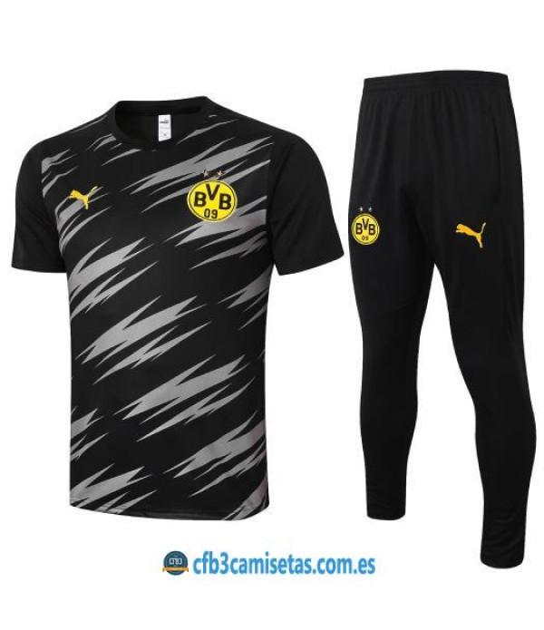 CFB3-Camisetas Camiseta pantalones borussia dortmund 2020/21 - negro