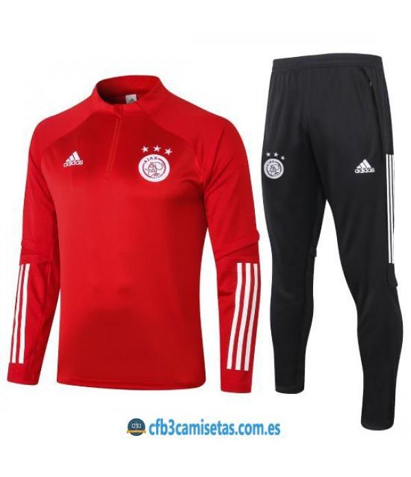 CFB3-Camisetas Chándal Ajax 2020/21 - Rojo