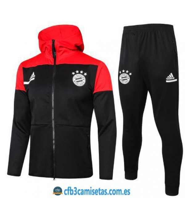 CFB3-Camisetas Chándal bayern munich 2020/21 - rojo/negro