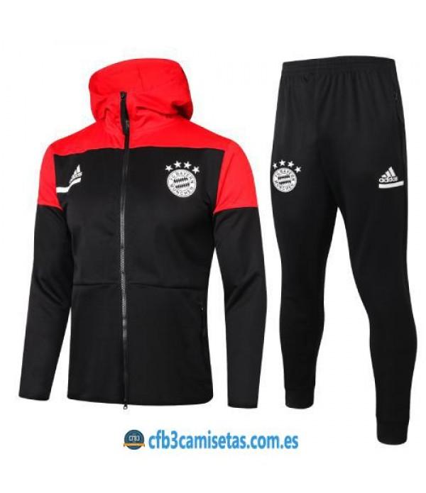 CFB3-Camisetas Chándal bayern munich 2020/21 capucha - niÑos