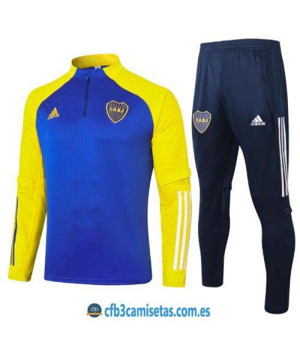 CFB3-Camisetas Chandal boca juniors 2020/21 - amarillo/azul