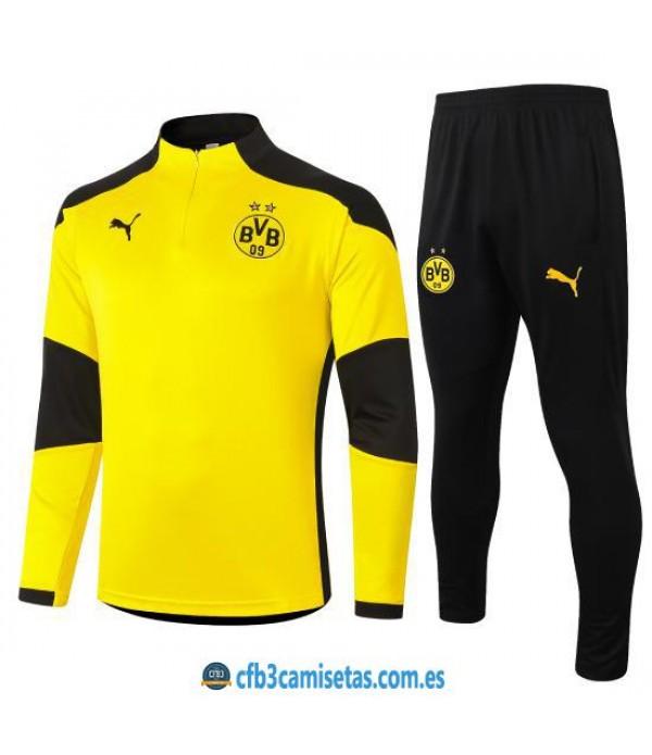 CFB3-Camisetas Chándal Borussia Dortmund 2020/21 - Amarillo 2