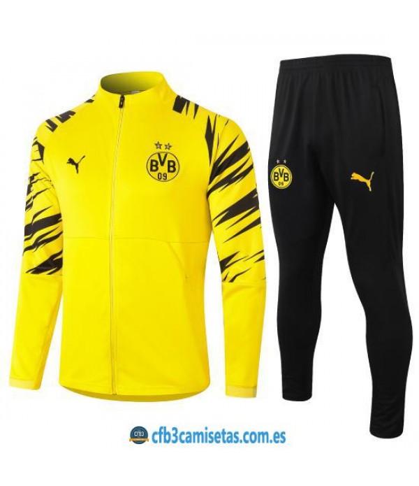 CFB3-Camisetas Chándal Borussia Dortmund 2020/21 - Amarillo