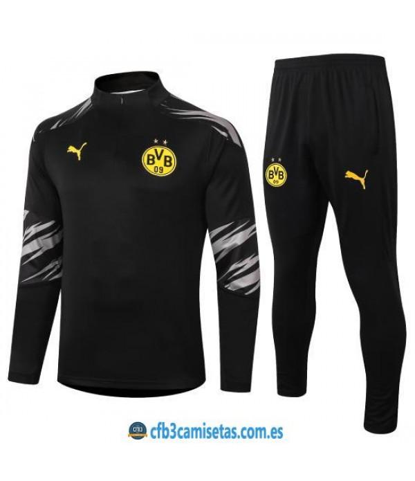 CFB3-Camisetas Chándal Borussia Dortmund 2020/21 - Negro