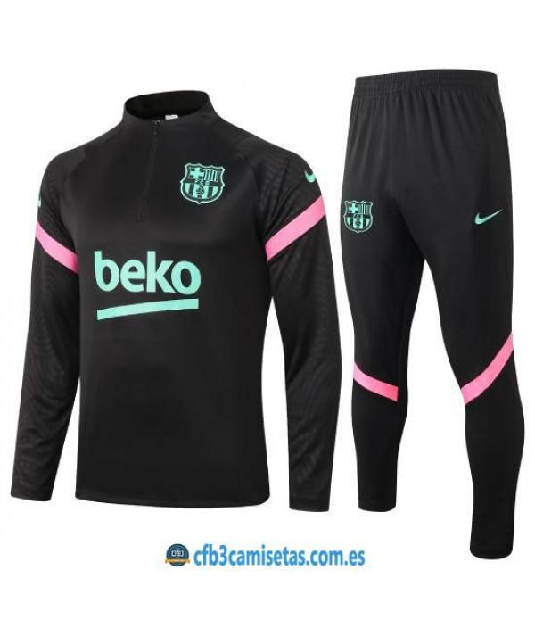 CFB3-Camisetas Chándal FC Barcelona 2020/21 - Negro 2