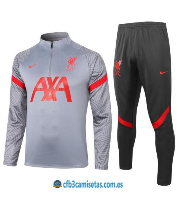 CFB3-Camisetas Chándal liverpool 2020/21 - gris