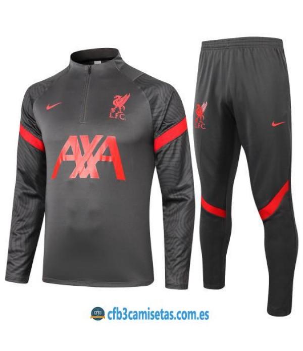 CFB3-Camisetas Chándal liverpool 2020/21 - negro