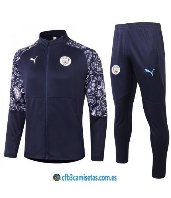 CFB3-Camisetas Chándal Manchester City 2020/21 - Azul