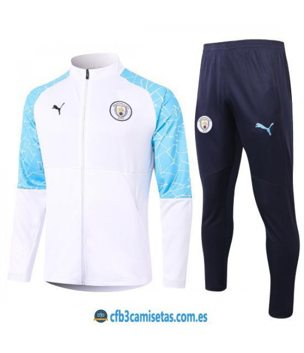 CFB3-Camisetas Chándal Manchester City 2020/21 - Blanco