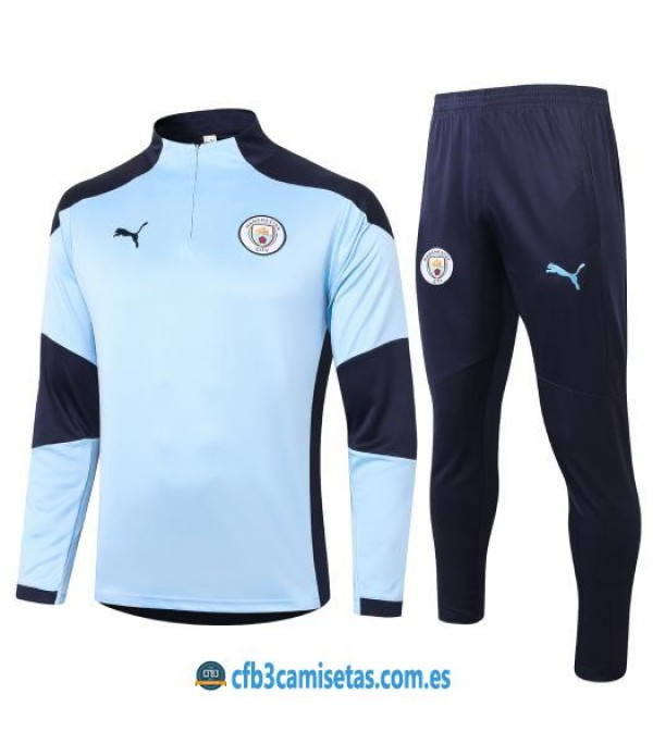 CFB3-Camisetas Chándal manchester city 2020/21 - celeste