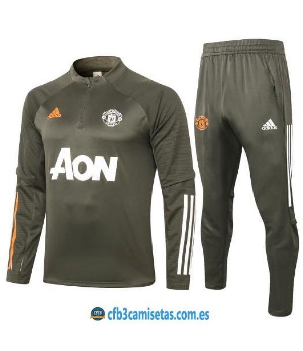 CFB3-Camisetas Chándal manchester united 2020/21 - gris