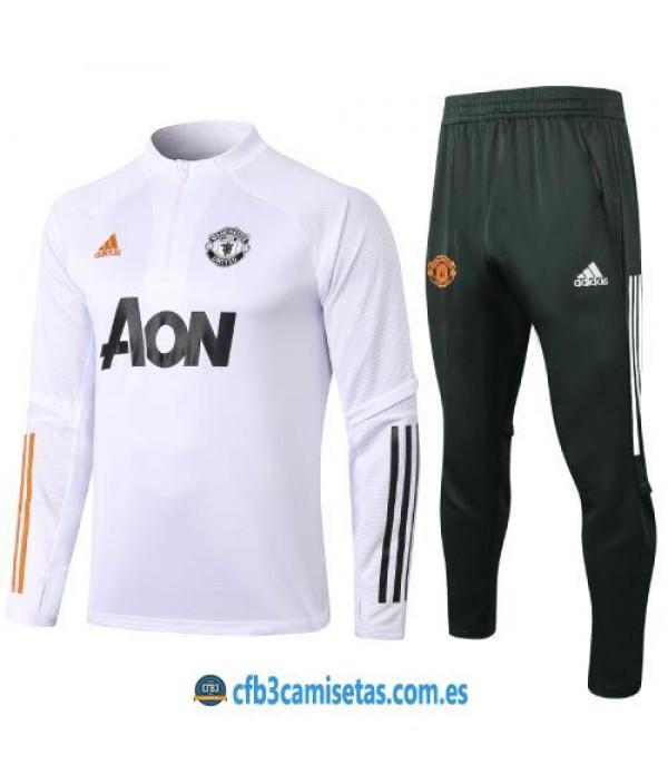 CFB3-Camisetas Chándal Manchester United 2020/21 - NIÑOS