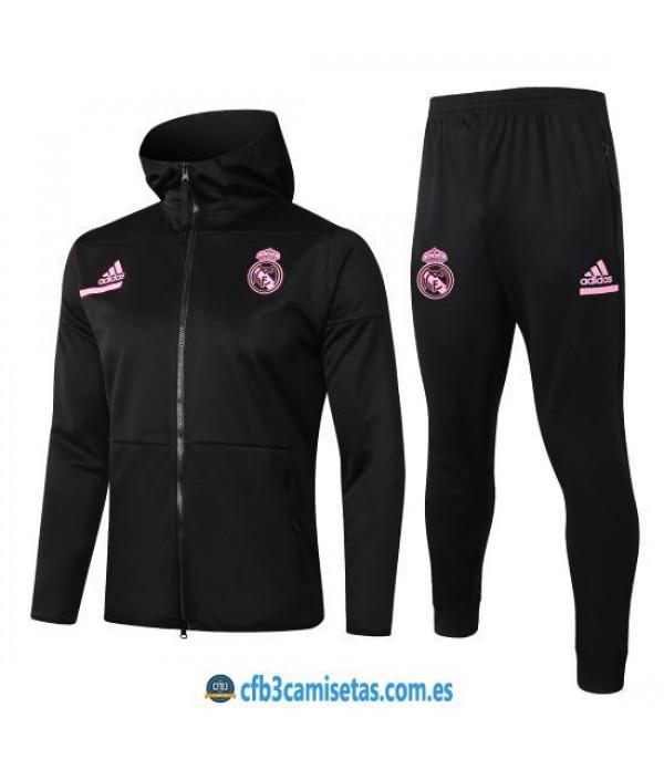 CFB3-Camisetas Chándal real madrid 2020/21 capucha - niÑos