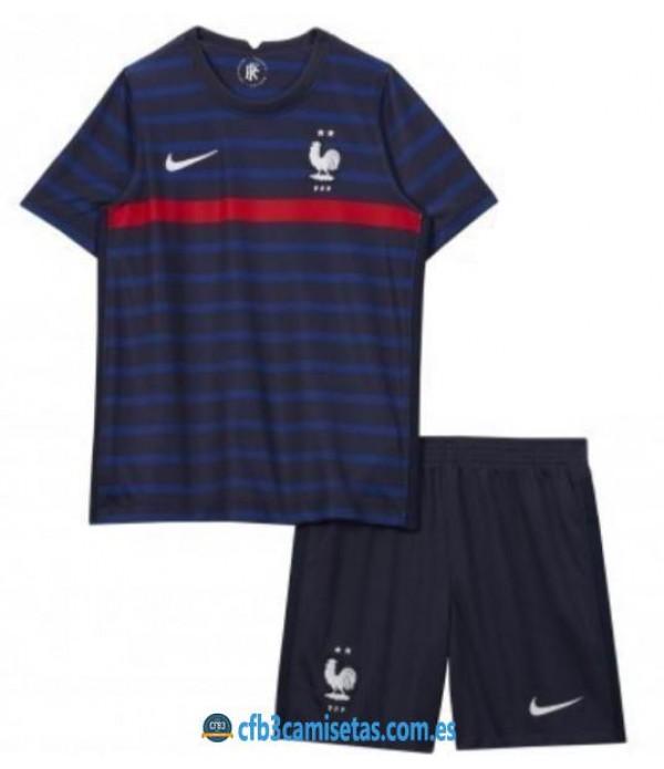 CFB3-Camisetas Francia 1a equipación 2020/21 - niÑos
