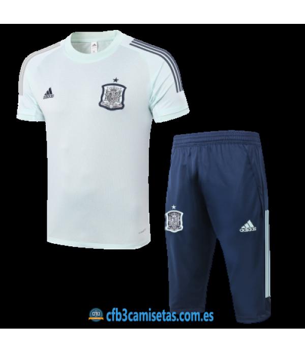 CFB3-Camisetas Kit entrenamiento españa 2020/21 - blanco