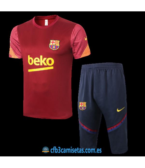 CFB3-Camisetas Kit entrenamiento fc barcelona 2020/21 - rojo