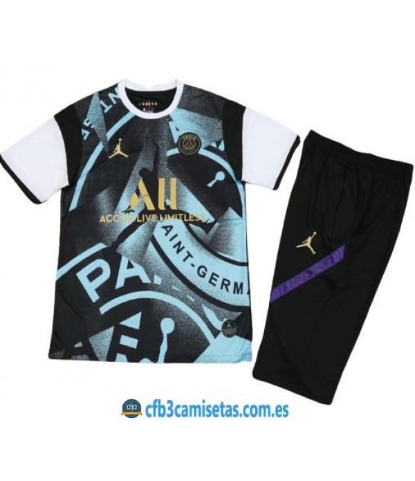 CFB3-Camisetas Kit entrenamiento psg x jordan 2020/21