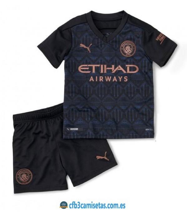 CFB3-Camisetas Manchester City 2a Equipación 2020/21 - NIÑOS