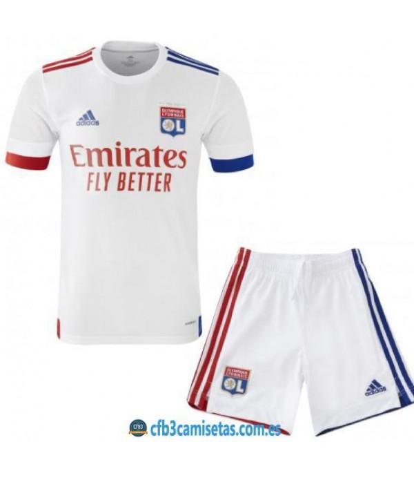 CFB3-Camisetas Olympique lyon 1a equipación 2020/21 - niÑos