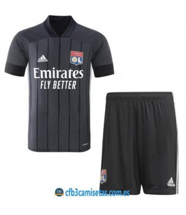 CFB3-Camisetas Olympique lyon 2a equipación 2020/21 - niÑos