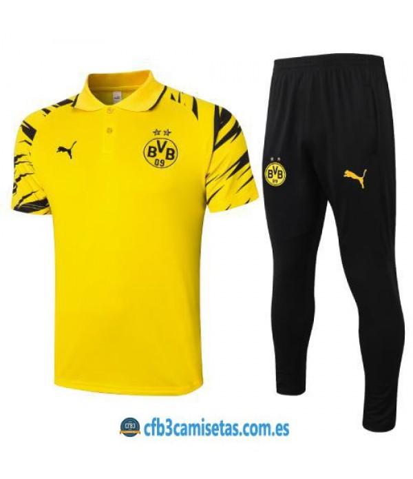 CFB3-Camisetas Polo pantalones borussia dortmund 2020/21