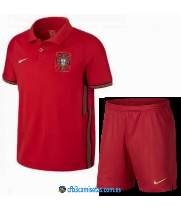CFB3-Camisetas Portugal 1a equipación 2020/21 - niÑos