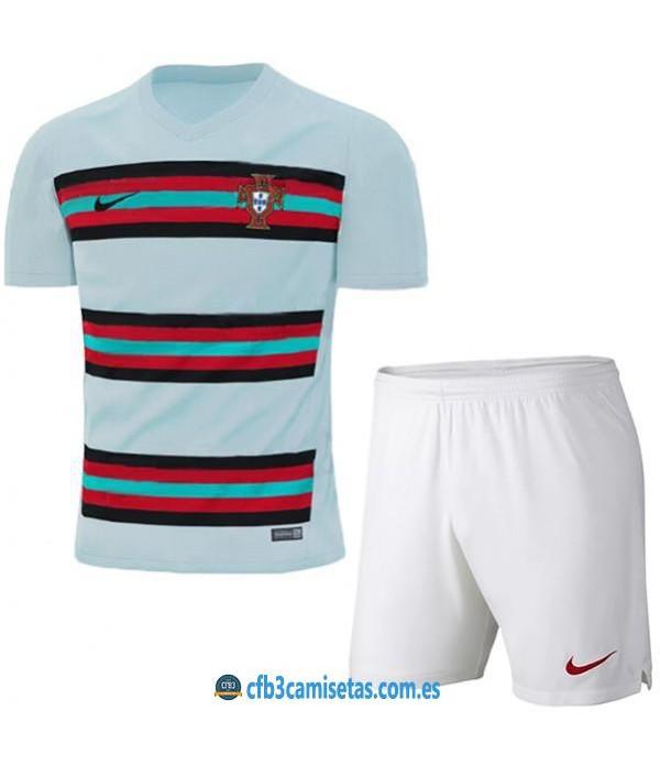 CFB3-Camisetas Portugal 2a equipación 2020/21 - niÑos