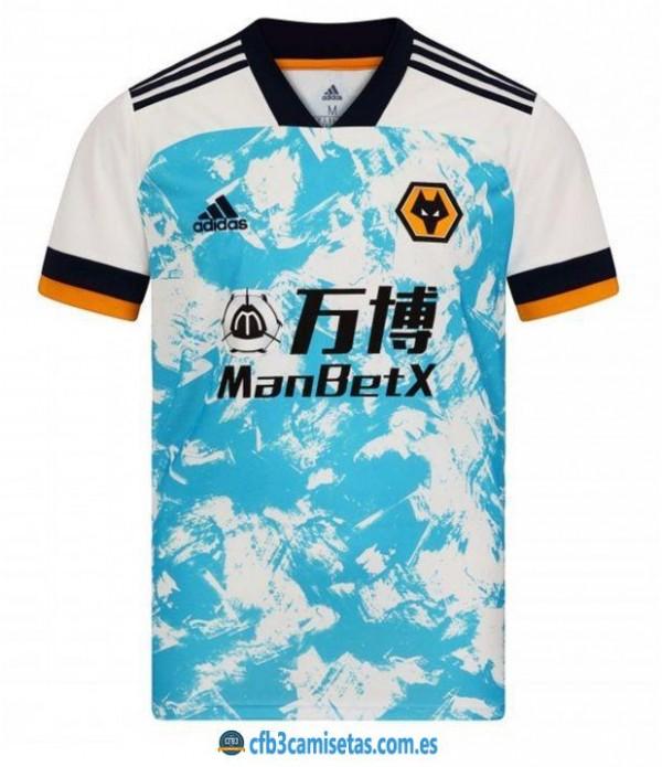 CFB3-Camisetas Wolves 2a equipación 2020/21