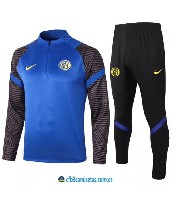 CFB3-Camisetas Chándal inter milán 2020/21 - azul