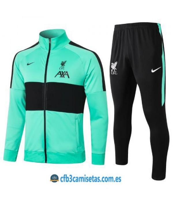CFB3-Camisetas Chándal liverpool 2020/21 verde - niÑos