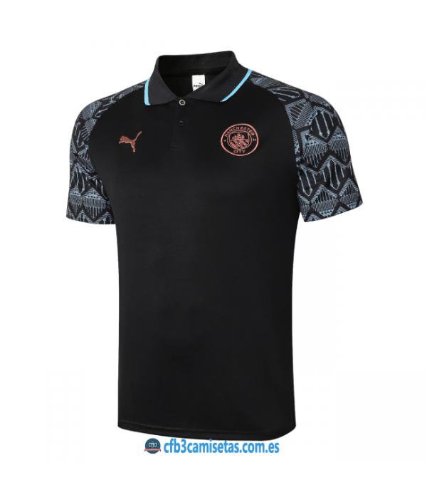 CFB3-Camisetas Polo manchester city 2020/21 - negro