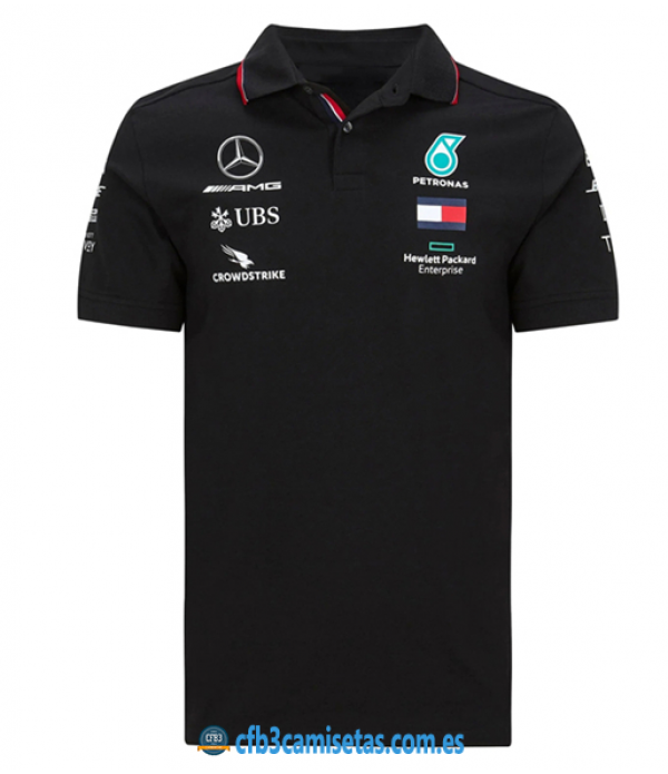CFB3-Camisetas Polo mercedes amg petronas 2020