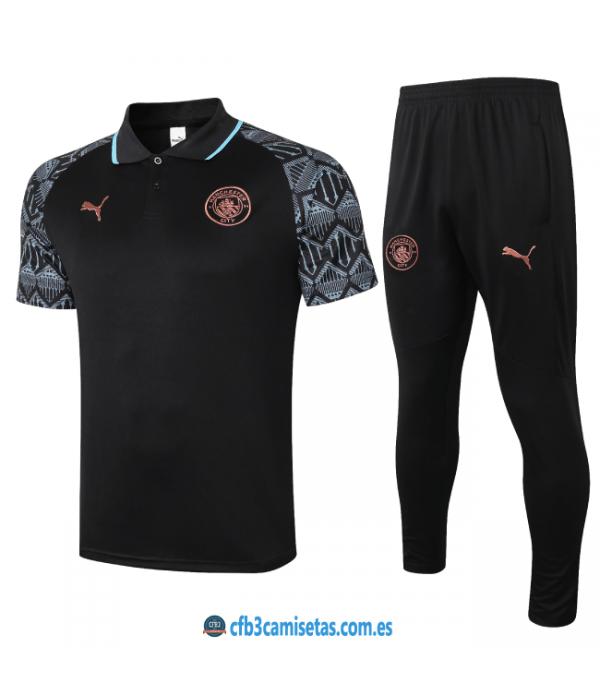 CFB3-Camisetas Polo pantalones manchester city 2020/21 - negro