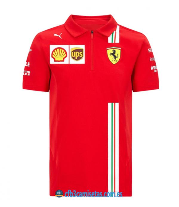 CFB3-Camisetas Polo scuderia ferrari 2020
