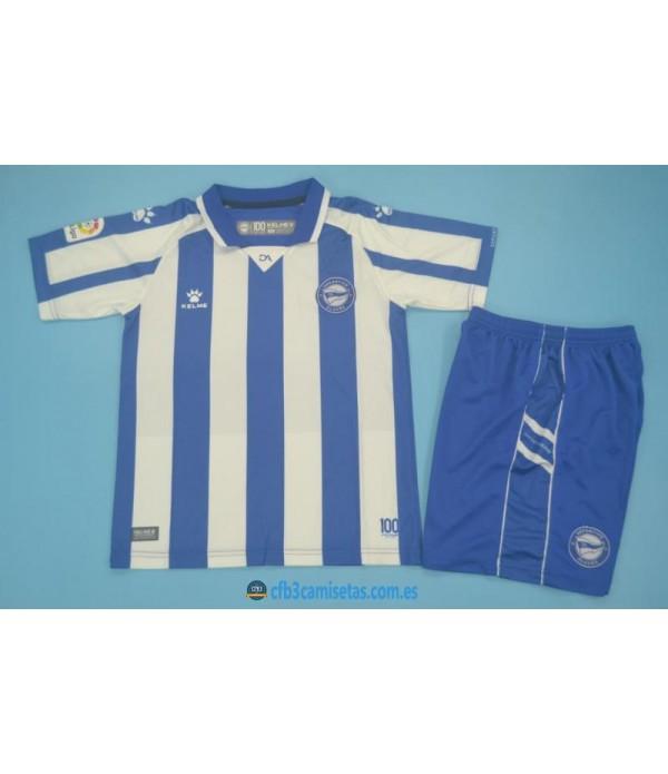CFB3-Camisetas Alaves 1a equipación 2020/21 - niÑos