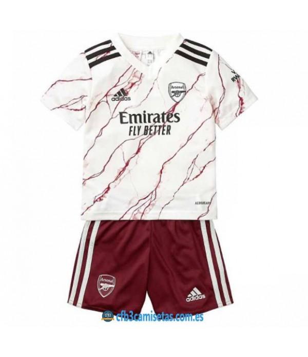 CFB3-Camisetas Arsenal 2a equipación 2020/21 - niÑos