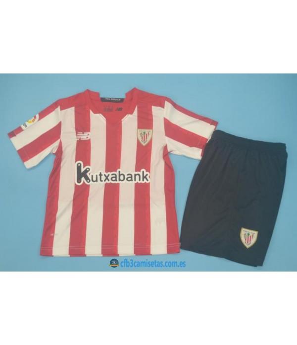 CFB3-Camisetas Athletic bilbao 1a equipación 2020/21 - niÑos