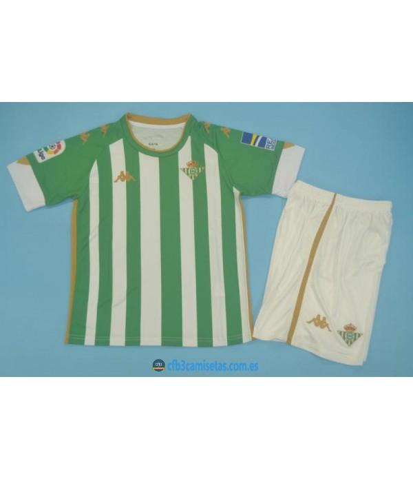 CFB3-Camisetas Betis 1a equipación 2020/21 - niÑos