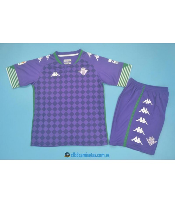 CFB3-Camisetas Betis 2a equipación 2020/21 - niÑos
