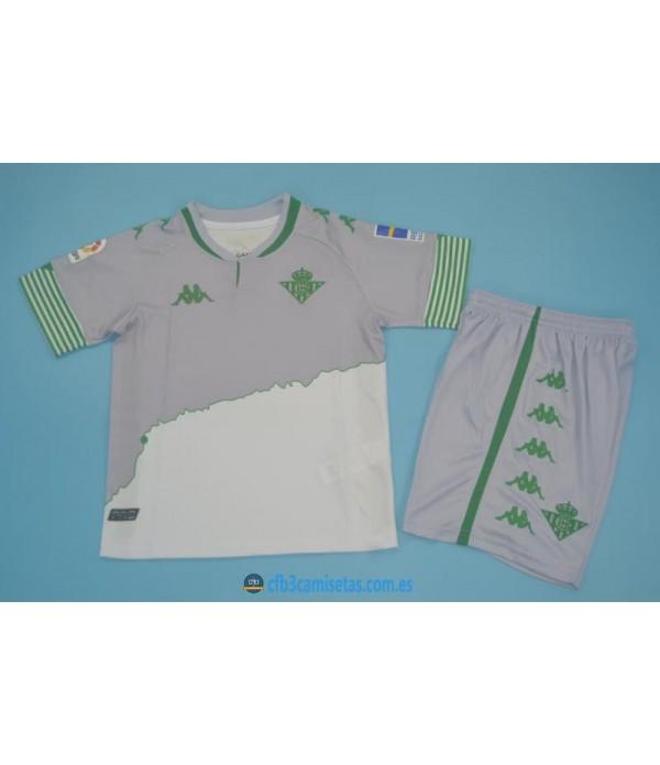 CFB3-Camisetas Betis 3a equipación 2020/21 - niÑos