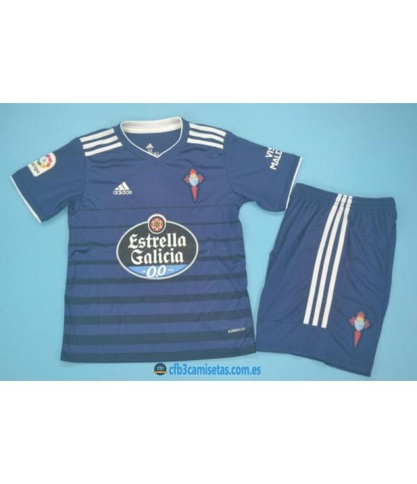 CFB3-Camisetas Celta de vigo 2a equipación 2020/21 - niÑos