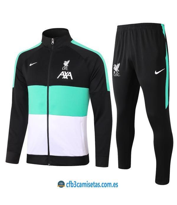 CFB3-Camisetas Chándal liverpool 2020/21 negro - niÑos
