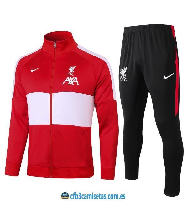CFB3-Camisetas Chándal liverpool 2020/21 rojo - niÑos