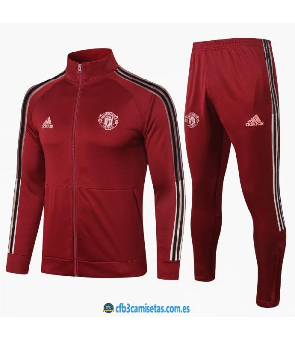 CFB3-Camisetas Chándal manchester united 2020/21 - red