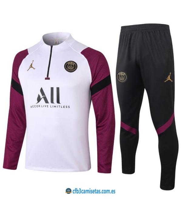 CFB3-Camisetas Chándal psg x jordan 2020/21 - blanco