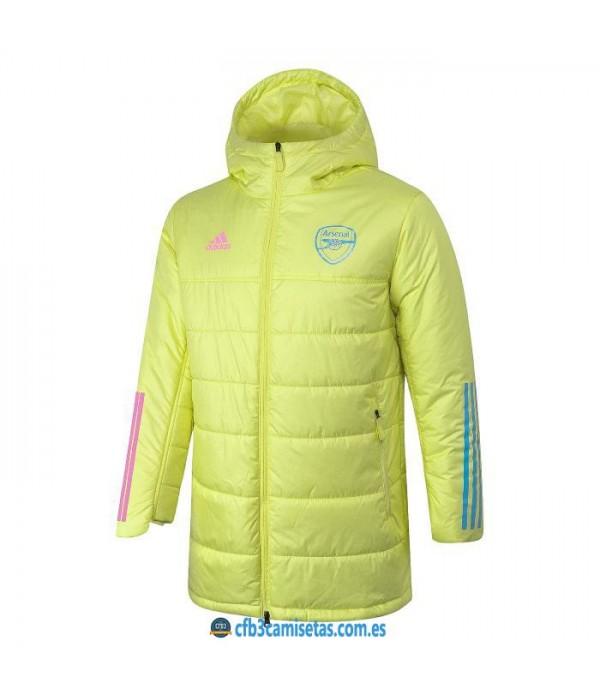 CFB3-Camisetas Chaqueta acolchada arsenal 2020/21 - amarilla