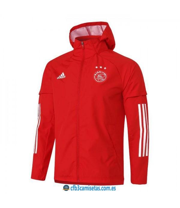 CFB3-Camisetas Chaqueta impermeable con capucha ajax 2020/21