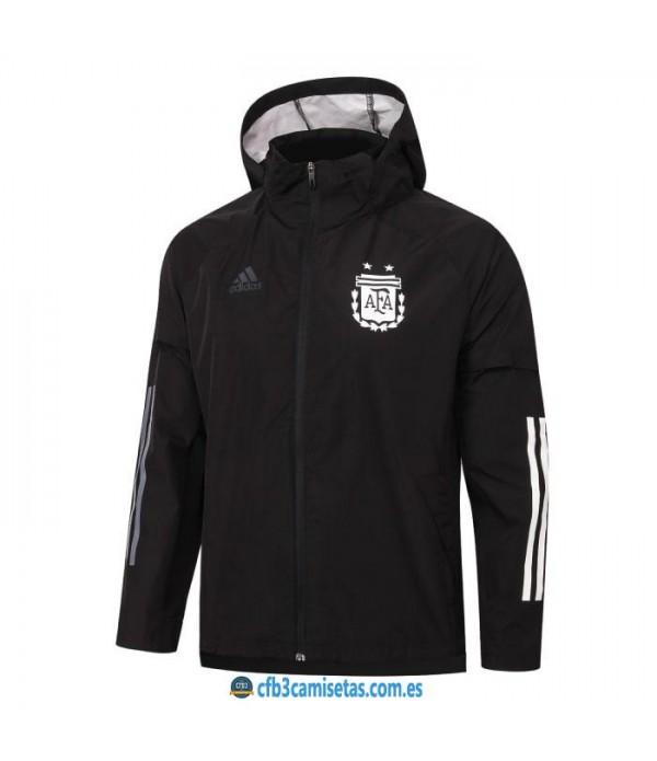 CFB3-Camisetas Chaqueta impermeable con capucha argentina 2020/21